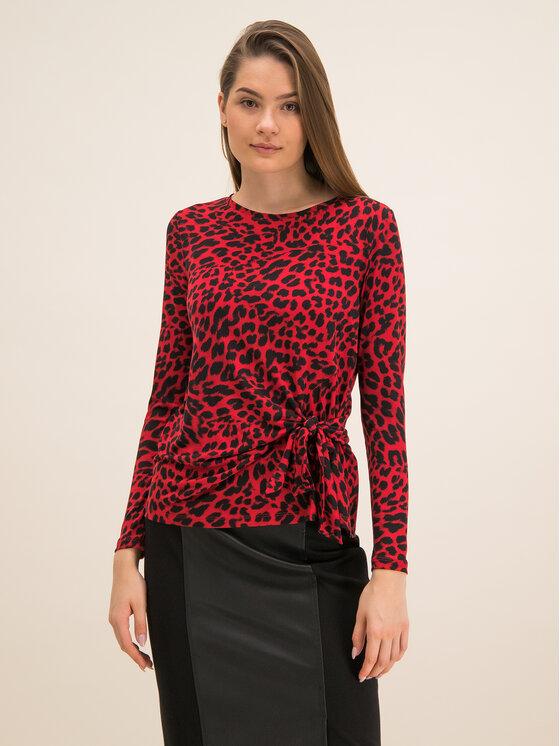 DKNY DKNY Блуза P9JHPCCH Червен Regular Fit