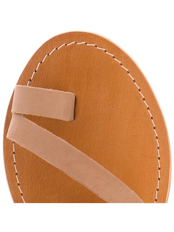 Steve Madden Steve Madden Japonki Shelby Flat Sandal 91001036-10002-13001 Brązowy