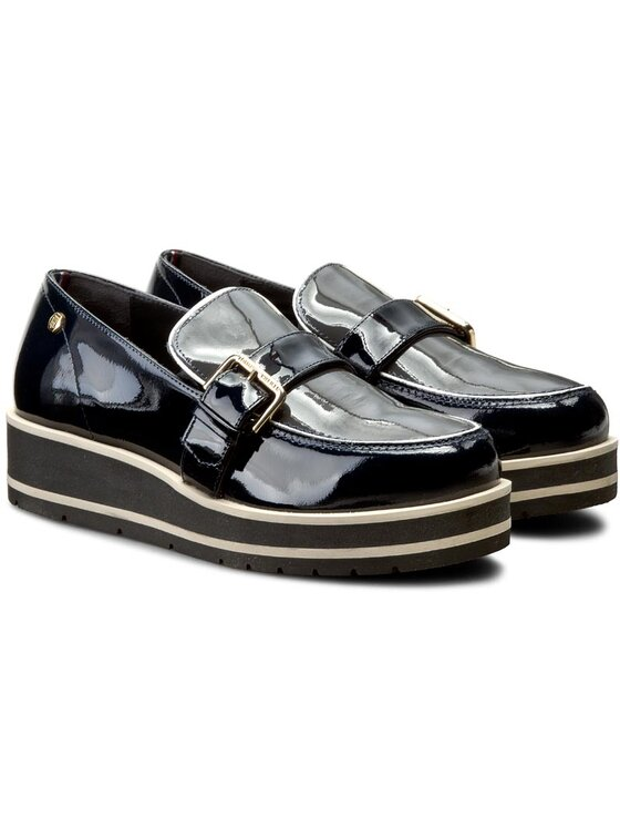 Tommy Hilfiger Tommy Hilfiger Μοκασίνια Leather Moccasin Hg 1P FW56821796 Σκούρο μπλε