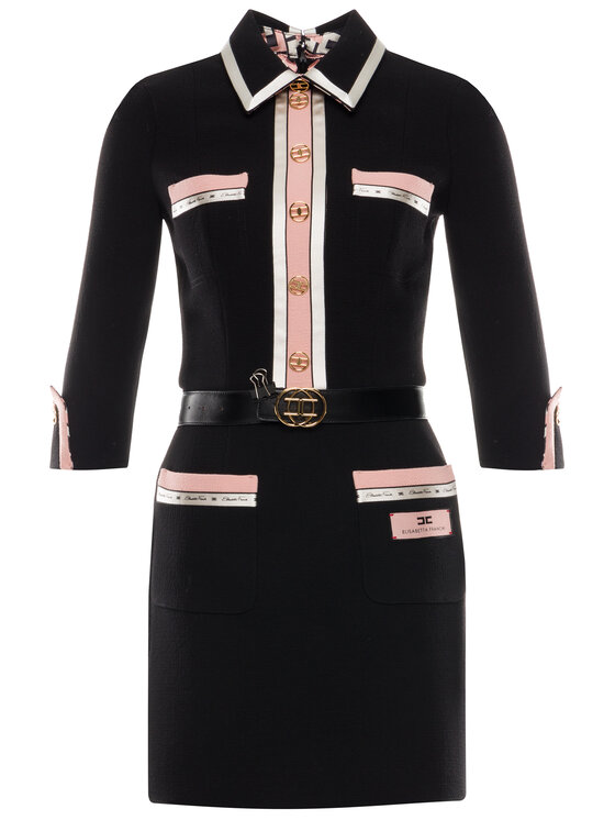 Elisabetta Franchi Elisabetta Franchi Sukienka koktajlowa AB-075-97E2-V699 Czarny Slim Fit