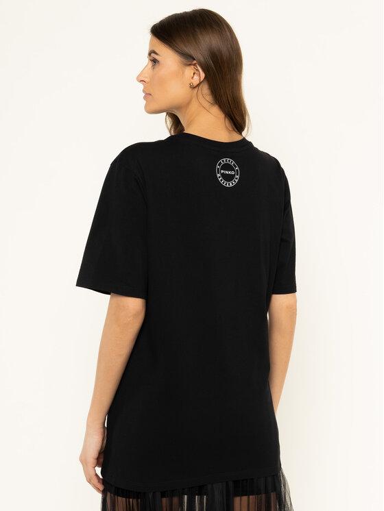 Pinko Pinko T-Shirt LUCIA HEFFERNAN Cobalt PE 20 PHEFF 1N12L2 Y68F Černá Regular Fit