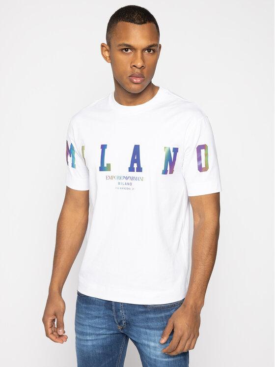 Emporio Armani Emporio Armani T-Shirt 3H1TM9 1JCQZ F127 Bílá Regular Fit