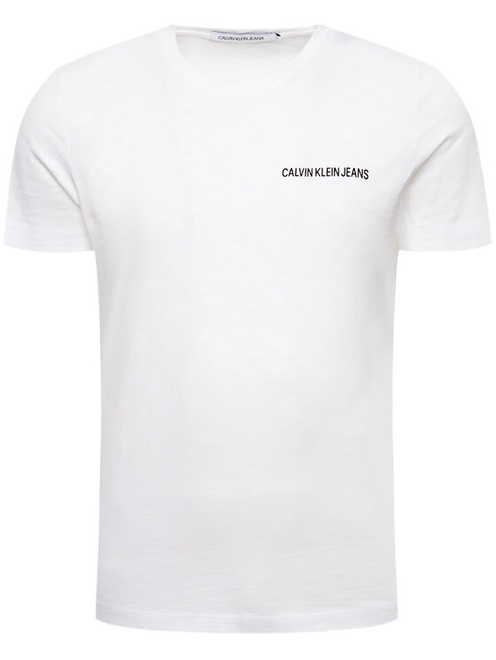 Calvin Klein Jeans Calvin Klein Jeans Тишърт Instit J30J312753 Бял Regular Fit
