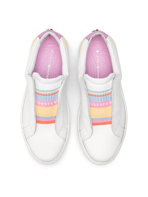 Tommy Hilfiger Tommy Hilfiger Sneakers Elastic Dress Sneaker FW0FW03859 Blanc