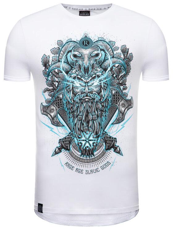 Rage Age Rage Age T-Shirt Perun Biały Slim Fit