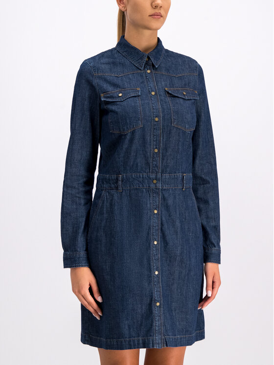 Marc O'Polo Marc O'Polo Φόρεμα πουκάμισο 907 9138 26033 Σκούρο μπλε Regular Fit