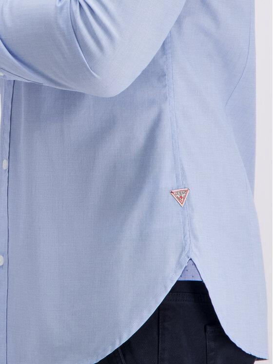 Guess Guess Hemd M93H13 WAD20 Blau Slim Fit