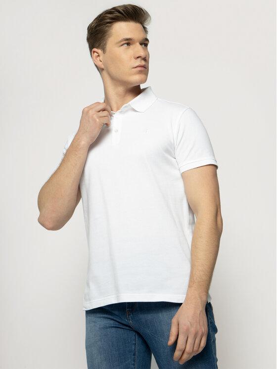 Trussardi Jeans Trussardi Jeans Polo marškinėliai 52T00349 Balta Regular Fit