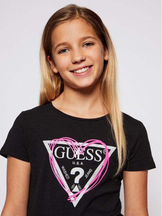 Guess Guess T-Shirt J1RI04 K6YW1 Czarny Regular Fit