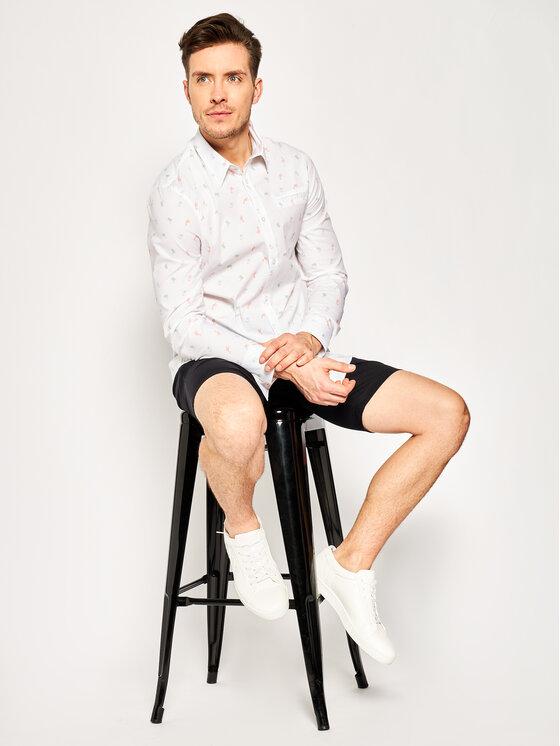 Guess Guess Košile Ls Sunset Shirt M02H20 W8BX0 Bílá Slim Fit
