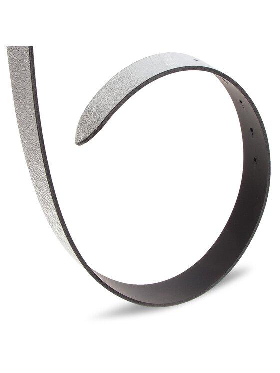 Calvin Klein Calvin Klein Pasek Damski 3 Cm Ck Rev. Belt Giftpack K60K604907 Srebrny