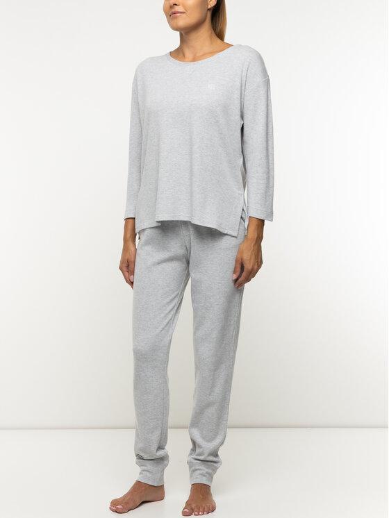 Lauren Ralph Lauren Lauren Ralph Lauren Горнище на пижама ILN61745 Сив Regular Fit
