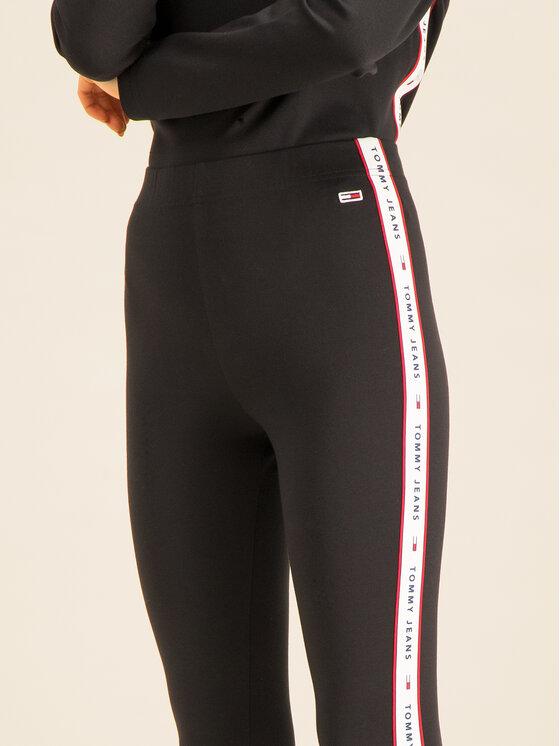 Tommy Jeans Tommy Jeans Legíny Tjw Tape Detail DW0DW07698 Černá Slim Fit