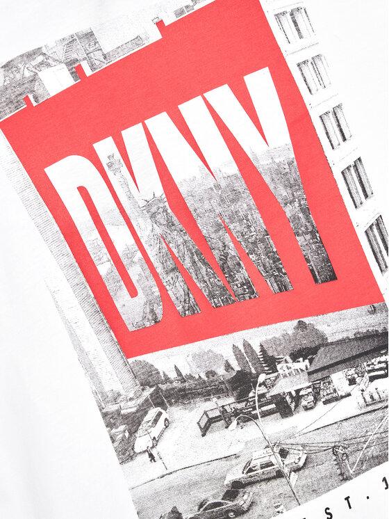 DKNY DKNY T-shirt D35R60 M Bijela Relaxed Fit