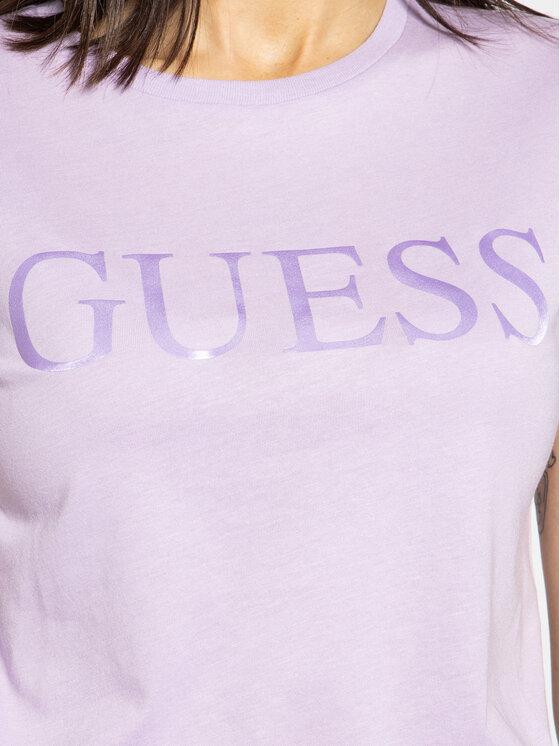 Guess Guess Marškinėliai Satinette Tee W0GI18 K46D0 Violetinė Regular Fit