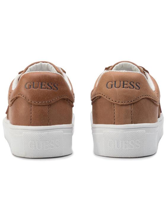 Guess Guess Sneakersy FI7ZAC LEA12 Hnědá
