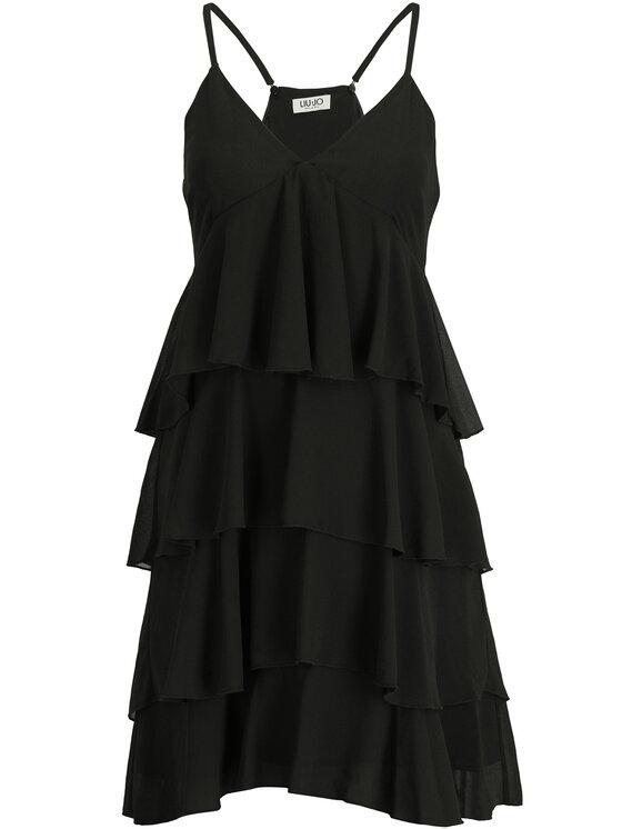 Liu Jo Liu Jo Koktejlové šaty F19022 T5540 Černá Regular Fit