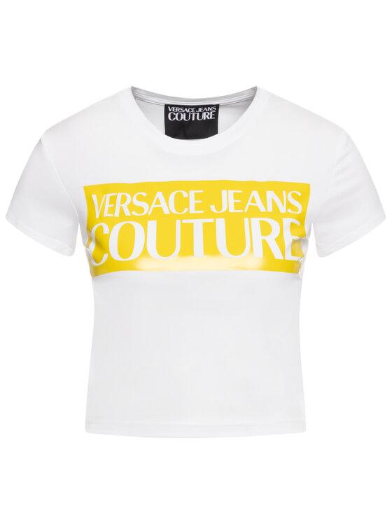 Versace Jeans Couture Versace Jeans Couture Marškinėliai B2HVA7V6 Balta Slim Fit
