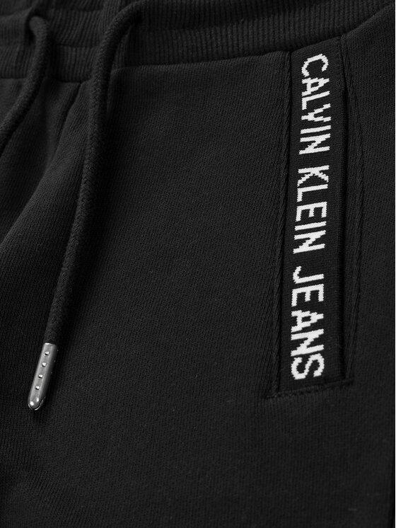 Calvin Klein Jeans Calvin Klein Jeans Pantaloni trening Intarsia Knit Logo IB0IB00502 Negru Regular Fit