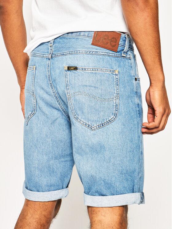 Lee Lee Džinsiniai šortai Pocket L73ELJIL Tamsiai mėlyna Regular Fit