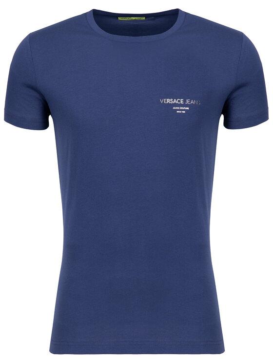 Versace Jeans Versace Jeans T-Shirt B3GTB76R Dunkelblau Slim Fit