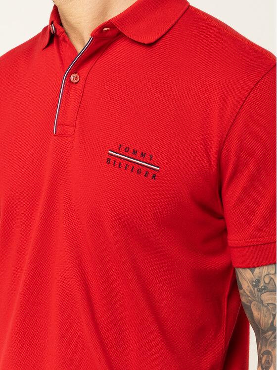 TOMMY HILFIGER TOMMY HILFIGER Polo marškinėliai Logo Embroidery MW0MW12246 Raudona Regular Fit