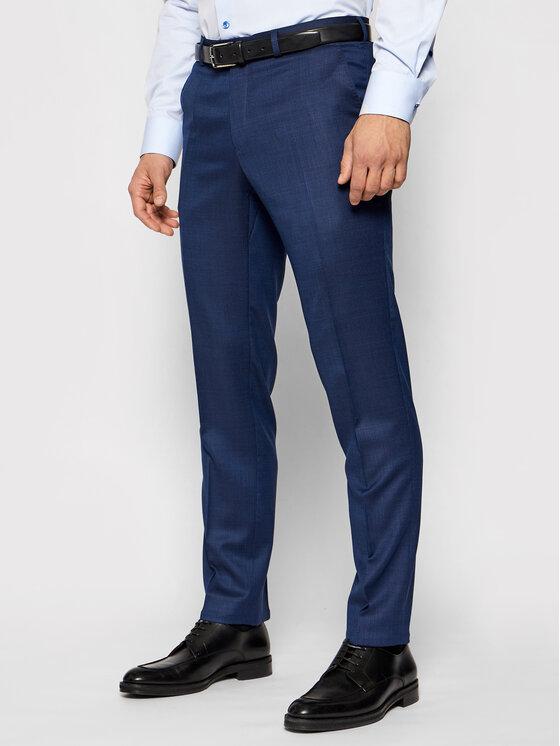 Carl Gross Kostiuminės kelnės Cg Stevenson 148192-62 Tamsiai mėlyna Modern Fit
