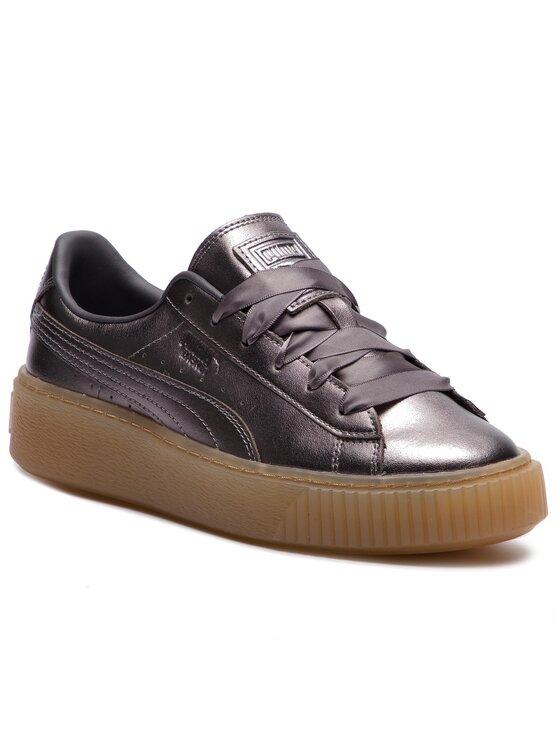 Puma Puma Sneakersy Basket Platform Luxe Wn's 366687 01 Šedá