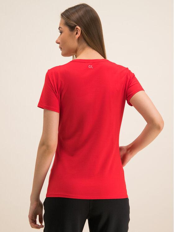 Calvin Klein Performance Calvin Klein Performance T-Shirt Tee Logo 00GWF8K139 Czerwony Relaxed Fit