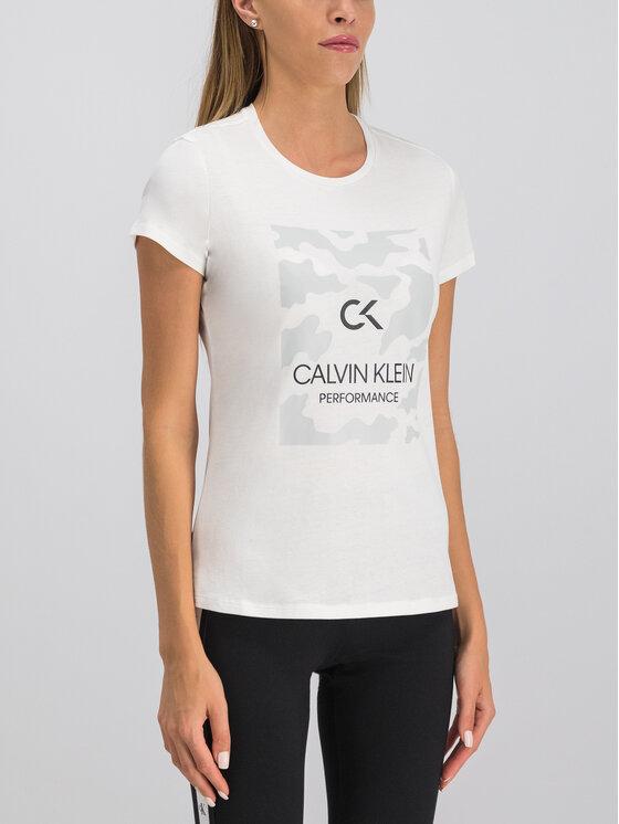 Calvin Klein Performance Calvin Klein Performance Marškinėliai 00GWF9K200 Balta Regular Fit