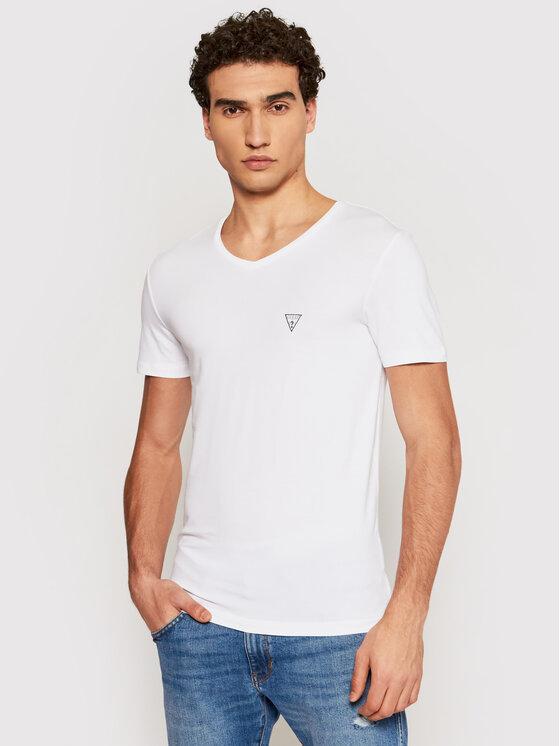 Guess Guess T-Shirt U97M01 JR003 Biały Slim Fit