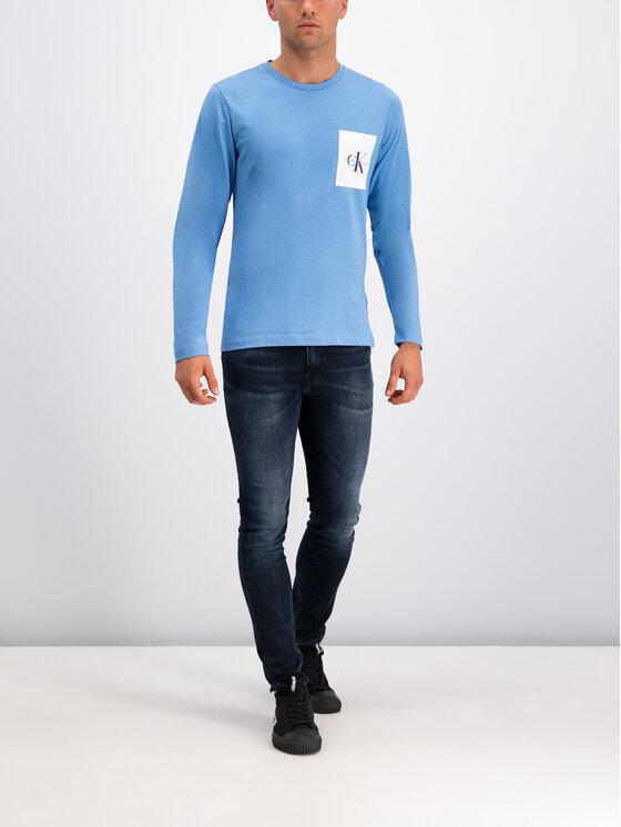 Calvin Klein Jeans Calvin Klein Jeans Longsleeve Monogram J30J313797 Blau Regular Fit