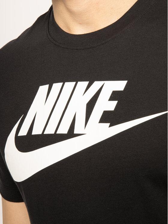 Nike Nike T-Shirt Icon Futura AR5004 Czarny Standard Fit