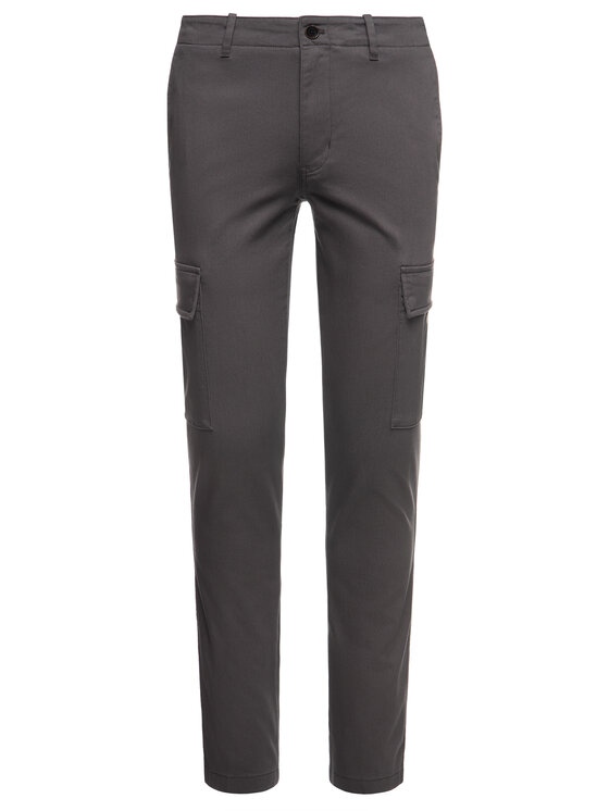 Tommy Hilfiger Tommy Hilfiger Pantalon en tissu Bleecker MW0MW12593 Gris Slim Fit