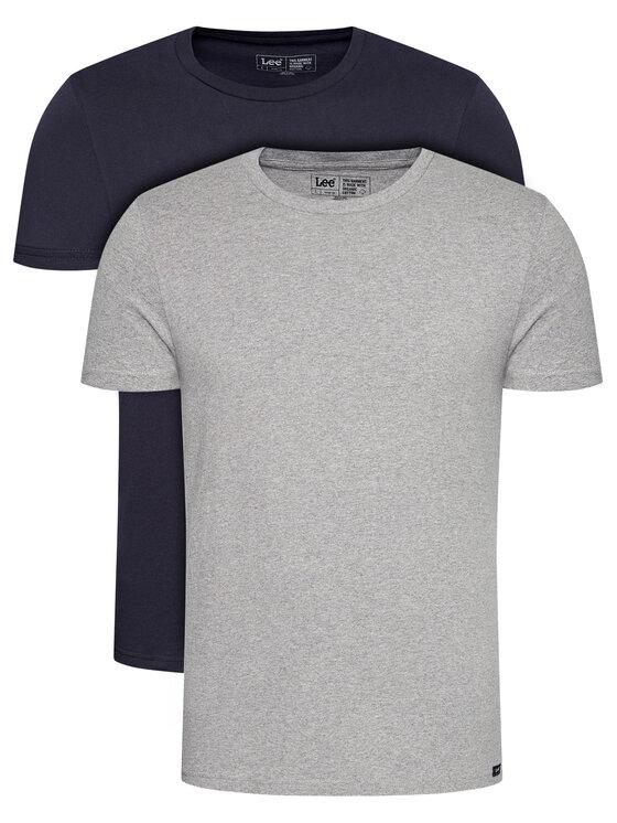 Lee 2 marškinėlių komplektas Twin Pack Crew L680CMLD Tamsiai mėlyna Fitted Fit
