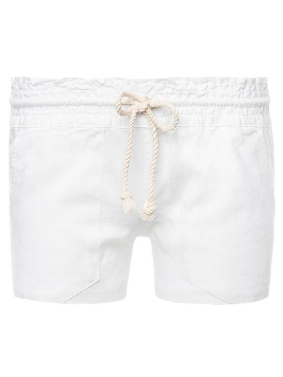 Roxy Roxy Шорти от плат ARJNS03007 Бял Regular Fit