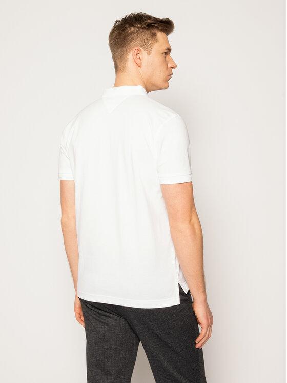 Tommy Hilfiger Tommy Hilfiger Polo marškinėliai Icon Mini Badge MW0MW13077 Balta Regular Fit