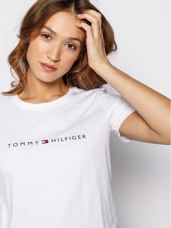 Tommy Hilfiger Tommy Hilfiger Marškinėliai Essential WW0WW25281 Balta Regular Fit