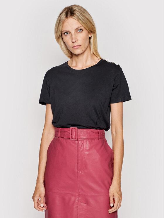 Custommade Marškinėliai Molly Crystal 999114104 Juoda Regular Fit