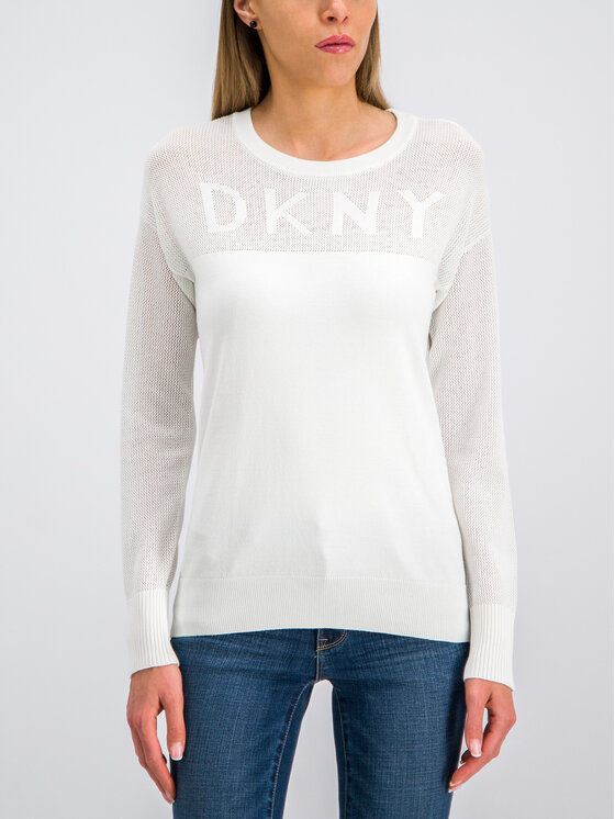 DKNY DKNY Maglione P9BS8AAM Bianco Regular Fit