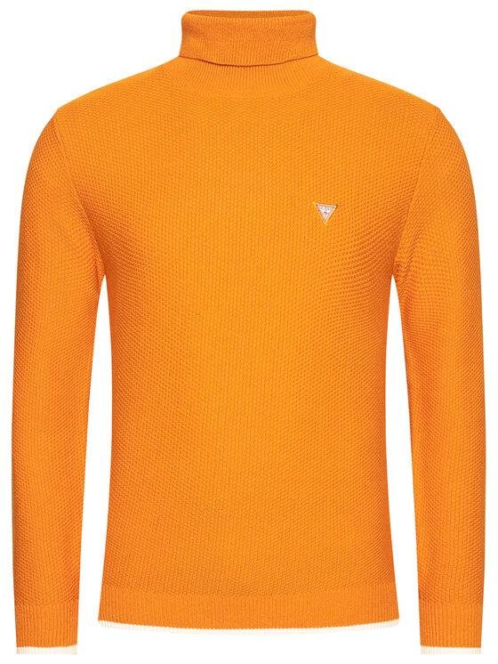 Guess Guess Golf Waffle Stitch M0BR56 Z2PN0 Pomarańczowy Regular Fit