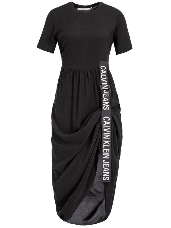 Calvin Klein Jeans Calvin Klein Jeans Každodenní šaty J20J212265 Černá Regular Fit