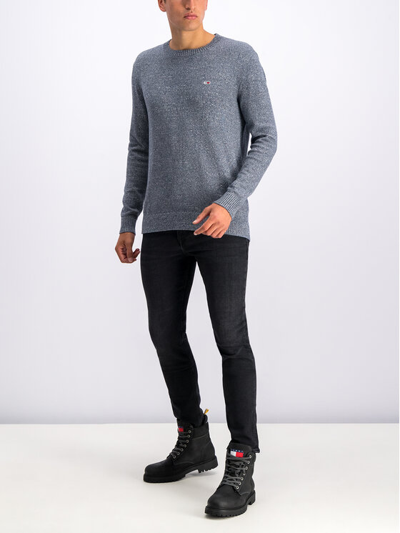 Tommy Jeans Tommy Jeans Sweter Essential Pure DM0DM06999 Szary Regular Fit