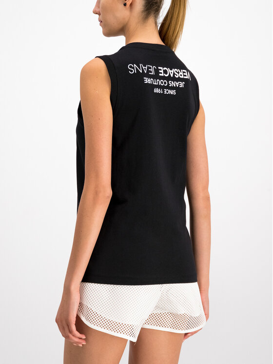 Versace Jeans Versace Jeans Τοπ D3HTB6E2 Μαύρο Regular Fit