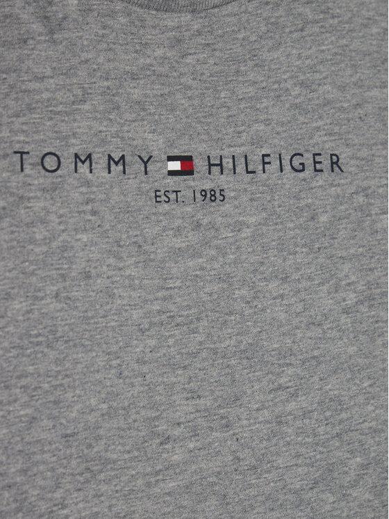 TOMMY HILFIGER TOMMY HILFIGER Bluzka Essential Tee KB0KB06105 D Szary Regular Fit