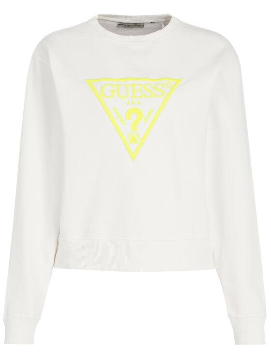 Guess Guess Mikina Neon Fleece W01Q56 K68I0 Biela Regular Fit