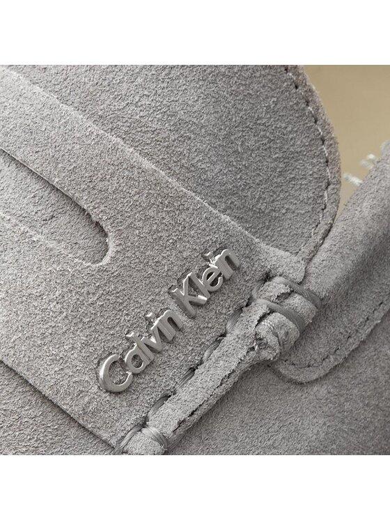 Calvin Klein Calvin Klein Μοκασίνια Tyme Suede O11042 Γκρι