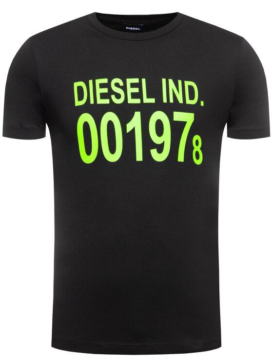 Diesel Diesel Тишърт Diego 00SASA 0AAXJ Черен Regular Fit