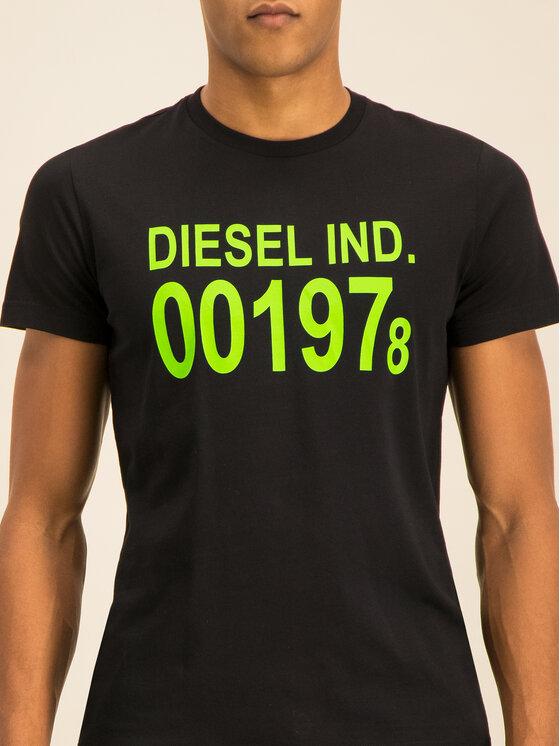 Diesel Diesel Póló Diego 00SASA 0AAXJ Fekete Regular Fit