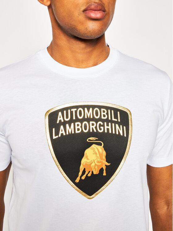 Lamborghini Lamborghini T-Shirt B3XVB7T8 Biały Regular Fit